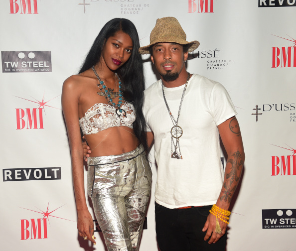 essica White and Dallas Austin attend BMI dinner honoring Future at 10 degrees South Restaurant on September 18, 2014 in Atlanta, Georgia.