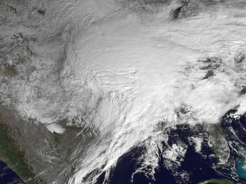 killer winter storm seen from space