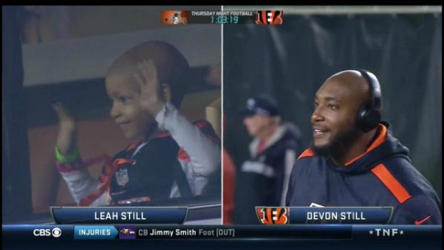 Leah Still is watching her father play for the first time. (NFL Network)