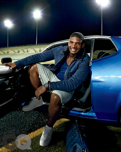 Michael Sam in the December 2014 issue of GQ