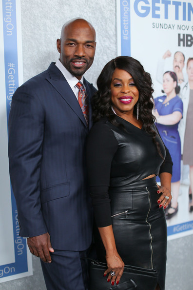 Jay Tucker and actress Niecy Nash attend the HBO 'Getting On' Season 2 Los Angeles Premiere at Avalon on October 28, 2014 in Hollywood, California