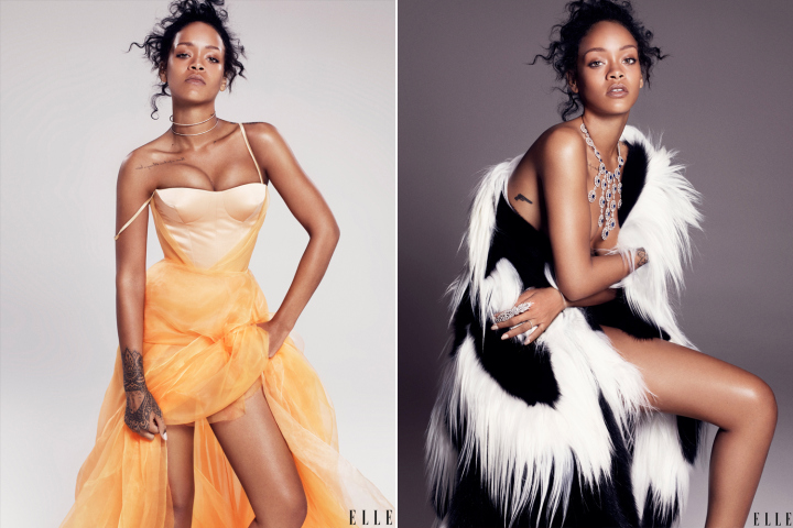 Rihanna photographed by Paola Kudacki for ELLE