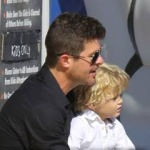 Robin Thicke and Son Hit on Women; Later Go on Play Date with Paula Patton (Watch)