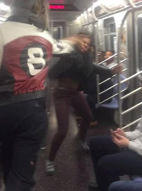 Brawl on New York's F Train Goes Viral