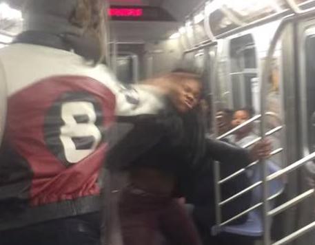 subway brawl