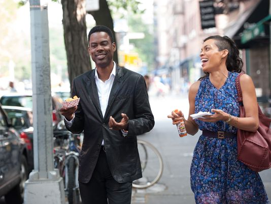 "Chris Rock and Rosario Dawson in ""Top Five"""