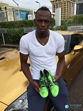 Usain Bolt's Signed Puma Training Spikes - Size UK 13 / 14  Listed for charity