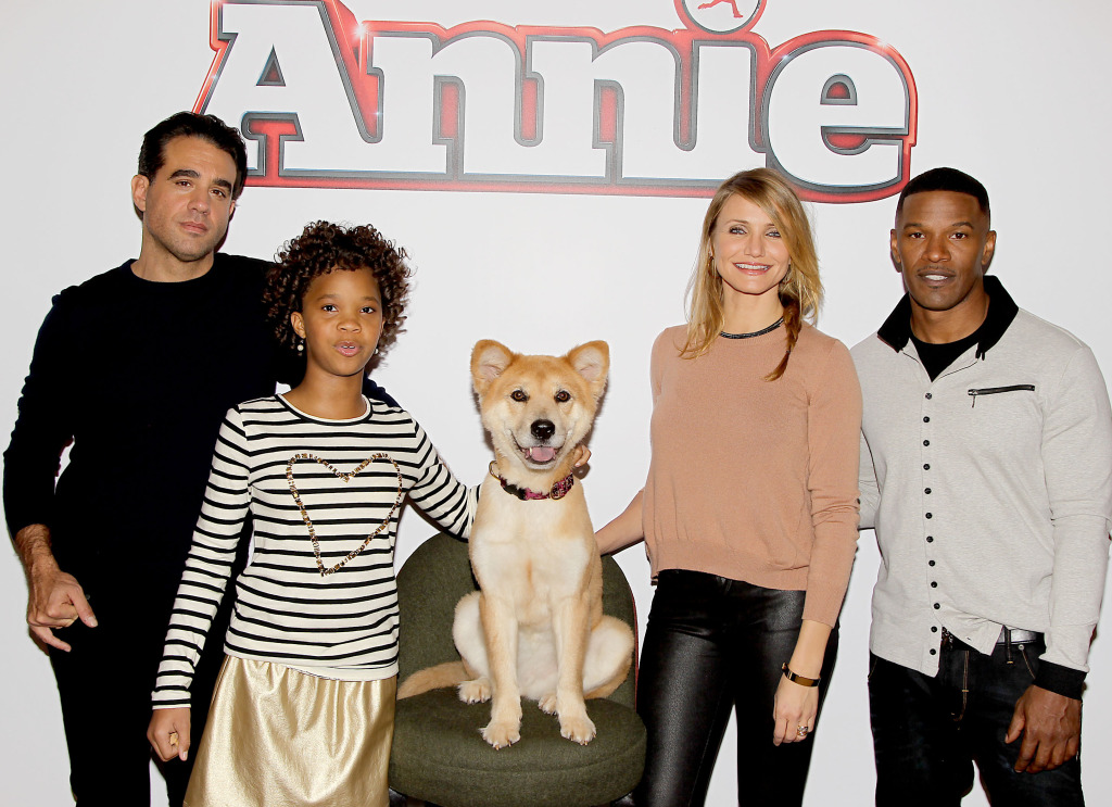 Bobby Cannavale, Quvenzhane Wallis, Sandy, Cameron Diaz and Jamie Foxx at the Crosby Street Hotel
