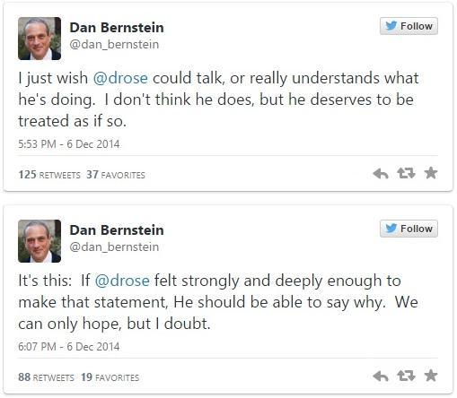 Dan Bernstein tweets