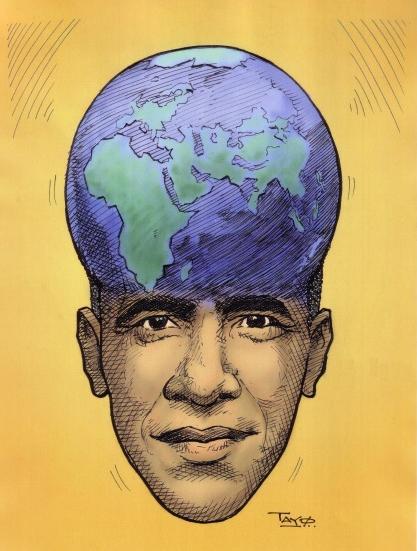 EUR 7 - Obama - World on his mind -