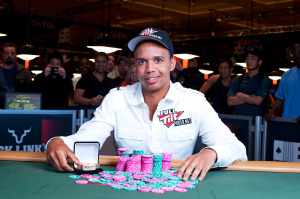 Phil Ivey and poker chip stacks