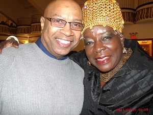 Photographer Ronnie Wright with actress/singer Ebony Jo-Ann