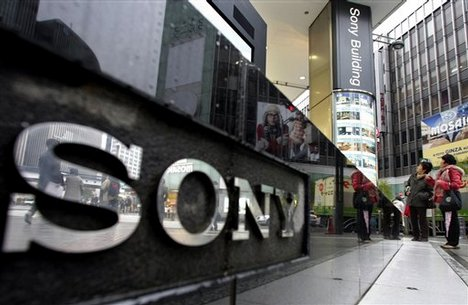 Sony logo on building