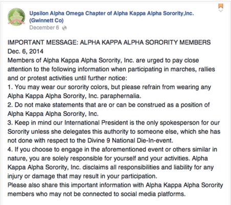 Upsilon Alpha Omega AKA chapter Facebook post