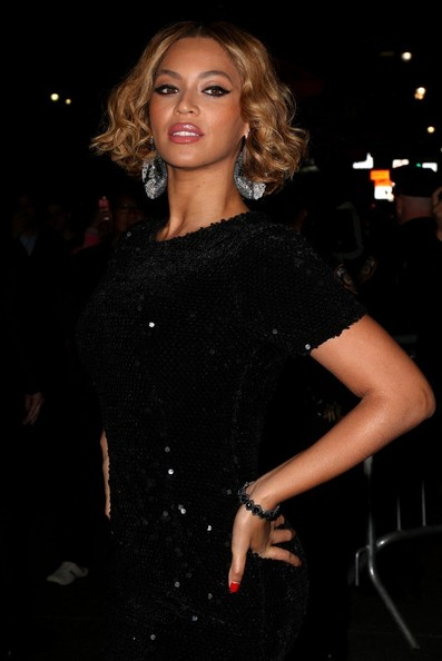 Beyonce arrives at the Topshop Topman New York City Flagship Opening Dinner. (November 5, 2014)