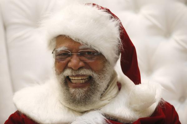 black santa claus, Langston Patterson, 77