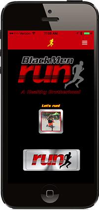 black men run first mobile fitness app