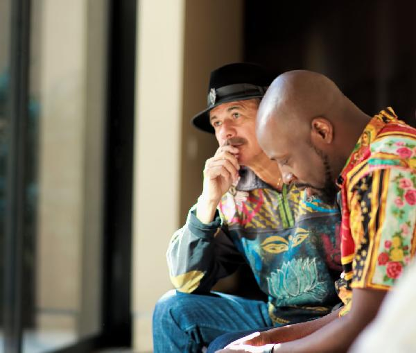 Carlos Santana and Wyclef Jean