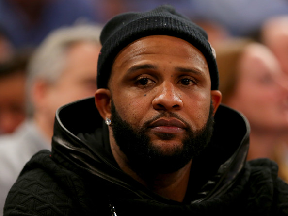 New York Yankees pitcher CC Sabathia attends the game between the New York Knicks and the Cleveland Cavaliers at Madison Square Garden on December 4, 2014 in New York City