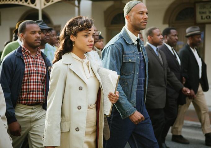 "Common and Tessa Thompson in Ava DuVernay's ""Selma"""