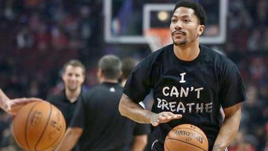 derrick rose - i cant breathe t-shirt