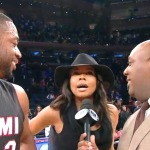 Gabrielle Union Hijacks Husband's Post Game Interview (Watch)