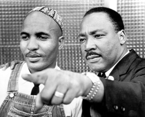 Birmingham, Alabama. August 13, 1965. The Rev. James Bevel, action director of the Southern Christian Leadership Conference, (left), poses with Dr. Martin Luther King Jr. SCLC president, Friday after suggesting the SCLC might form an international peace army to promote the nonviolent movement and settle world conflicts without war.