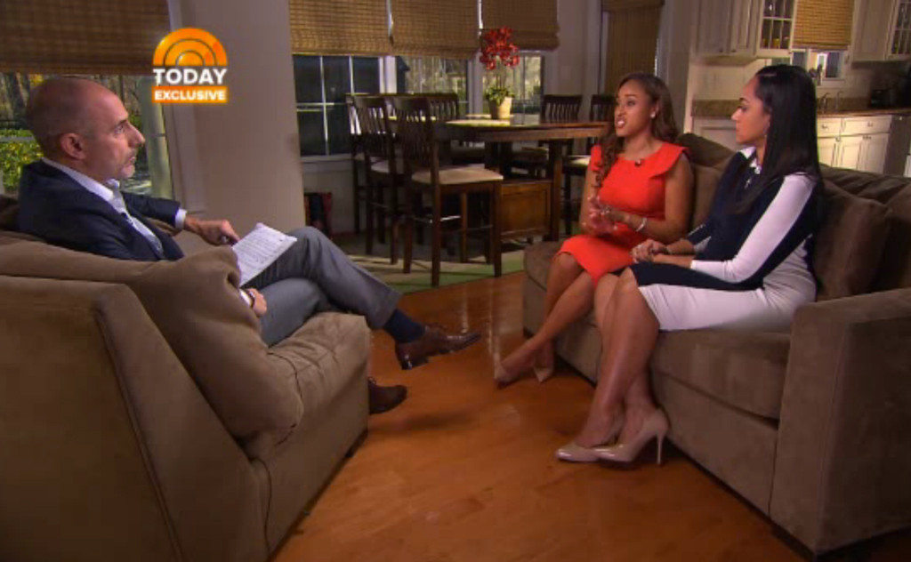"Janay Rice and her mother Candy Palmer on NBC's ""Today"""
