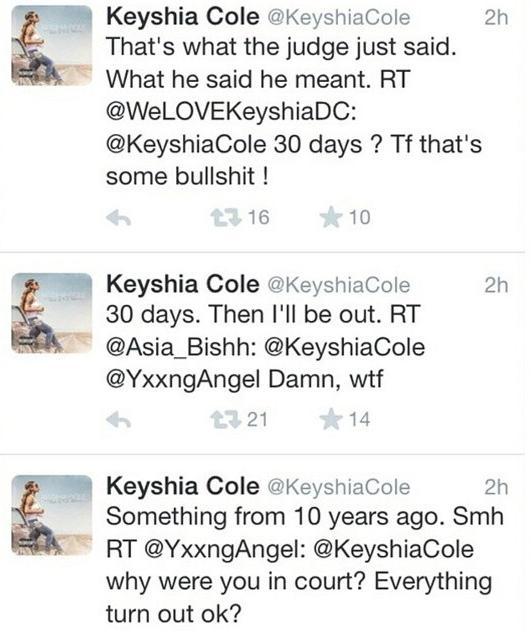 keyshia cole - going to jail tweets
