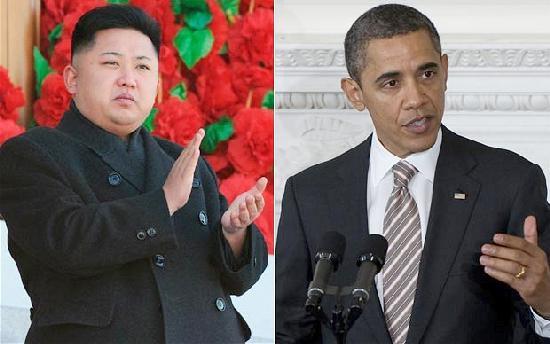 kim jong un & pres obama