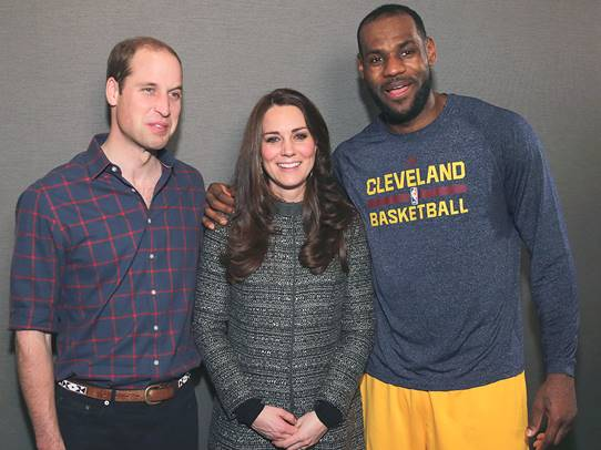 lebron james, kate middleton, prince william,