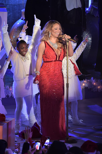 Mariah Carey performs at the 82nd annual Rockefeller Christmas Tree Lighting Ceremony at Rockefeller Center on December 3, 2014 in New York City.