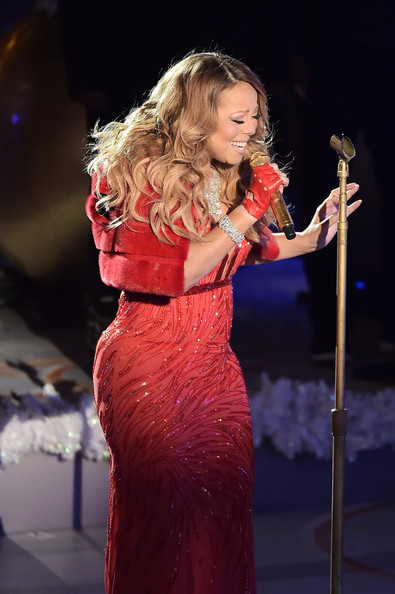 Mariah Carey performs at the 82nd annual Rockefeller Christmas Tree Lighting Ceremony at Rockefeller Center on December 3, 2014 in New York City