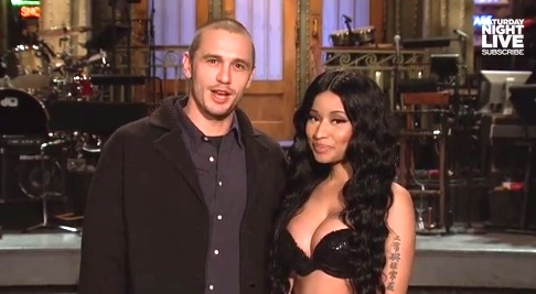 nicki minaj james franco snl