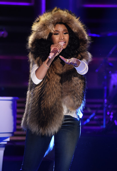 Nicki Minaj Visits 'The Tonight Show Starring Jimmy Fallon' at Rockefeller Center on December 16, 2014 in New York City