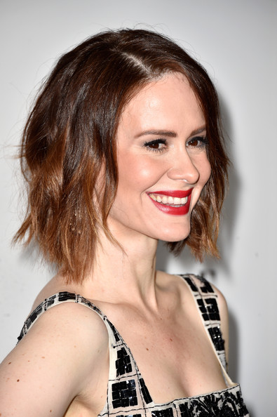 Actress Sarah Paulson arrives at ELLE's 21st Annual Women In Hollywood at Four Seasons Hotel Los Angeles at Beverly Hills on October 20, 2014 in Beverly Hills, California