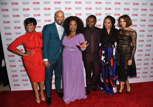 (L-R) Niecy Nash, Common, Oprah Winfrey, David Oyelowo and Carmen Ejogo attend the 'Selma' and the Legends Who Paved the Way gala at Bacara Resort on December 6, 2014 in Goleta, California