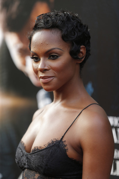 "Actress Tika Sumpter attends the ""Get On Up"" premiere at The Apollo Theater on July 21, 2014 in New York City."