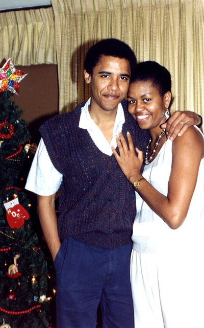 young_couple_michelle_obama_with_her_husband1