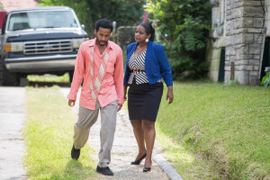 "Andre Holland and Octavia Spencer star in Relativity Media's ""Black or White""."