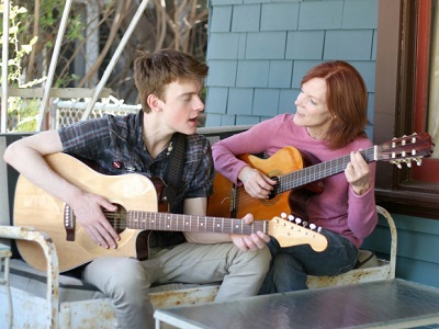 Maggie Baird's real life son, Finneas O'Connell stars with his mother in Life Inside Out