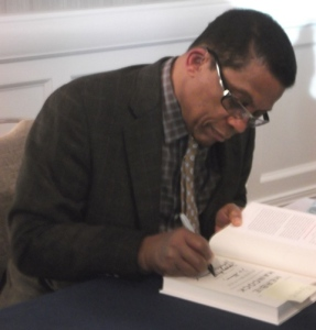 Herbie Hancock signs copies of his Autobiography: Photo Credit, Ricky Richardson