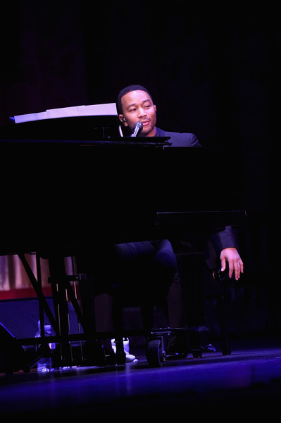 "John Legend performs on stage at Netflix's ""What Happened, Miss Simone"" Sundance world premiere with special performance by John Legend on January 22, 2015 in Park City Utah"