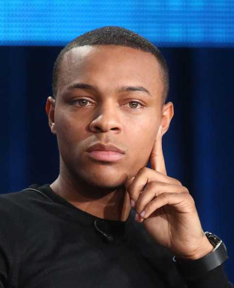 "Actor Shad Moss listens onstage to the discussion during the 'CSI: Cyber"" panel as part of the CBS/Showtime 2015 Winter Television Critics Association press tour at the Langham Huntington Hotel & Spa on January 12, 2015 in Pasadena, California"