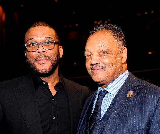 a crouch - Tyler Perry and Rev Jesse Jackson
