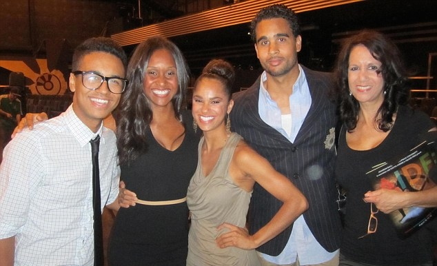 Sylvia DelaCerna (R) with Misty Copeland (C) and her siblings
