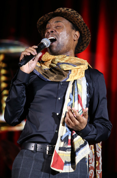 Singer/actor Billy Porter performs onstage during the 'LIVE FROM LINCOLN CENTER' panel discussion at the PBS Network portion of the Television Critics Association press tour at Langham Hotel on January 19, 2015 in Pasadena, California