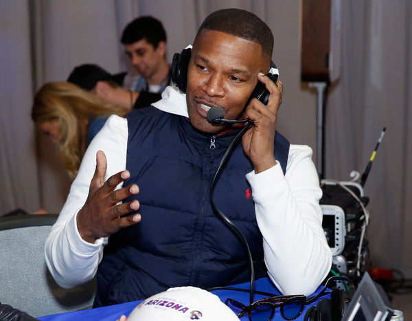 Actor/recording artist Jamie Foxx attends SiriusXM at Super Bowl XLIX Radio Row at the Phoenix Convention Center on January 30, 2015 in Phoenix, Arizona