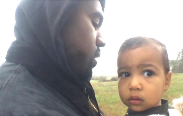 Kanye West Serenades Daughter North in 'Only One' Video ...