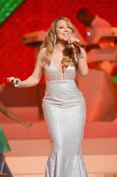 Mariah Carey performs her holiday smash hits at the Beacon Theatre on December 15, 2014 in New York City